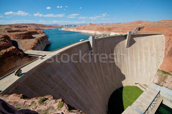 моста каньон озеро воды конкретные электроэнергии Сток-фото © tangducminh