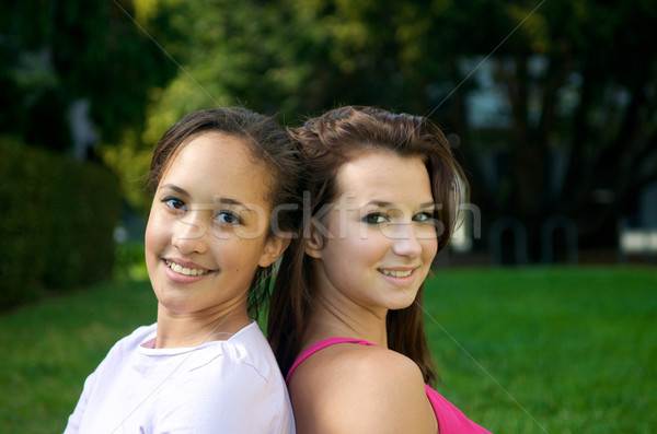 Teenager girl friends Stock photo © tangducminh