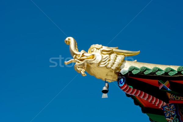 Pagode dragão viajar cabeça chinês Ásia Foto stock © tangducminh