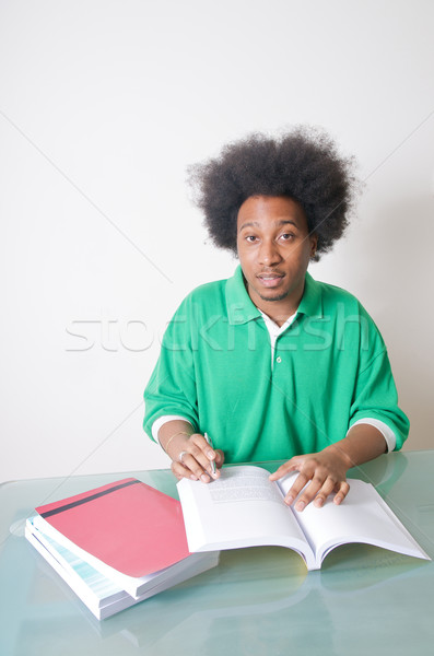 öğrenci eğitim ders kitapları bilgisayar kalem Stok fotoğraf © tangducminh