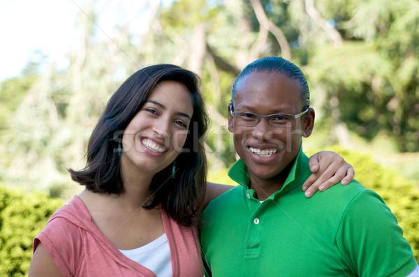 Color multicultural personas amigos aire libre campus Foto stock © tangducminh