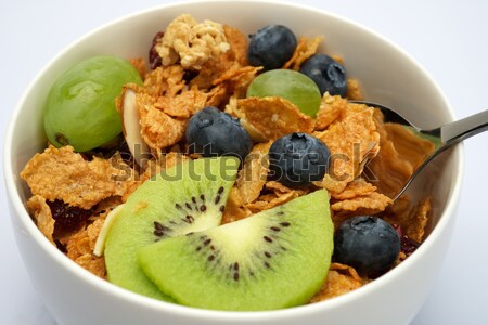 Stock photo: Close up of cereal breakfast