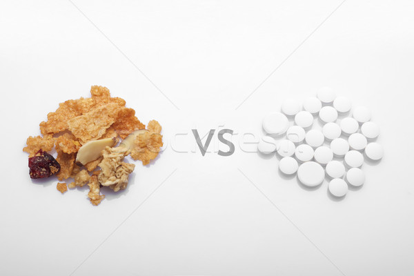 Healthy food versus drug Stock photo © tangducminh