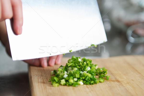 Cutting Scallion Stock photo © tangducminh