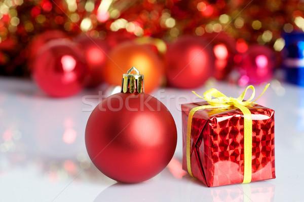 Рождества безделушка зима красный празднования Сток-фото © tangducminh