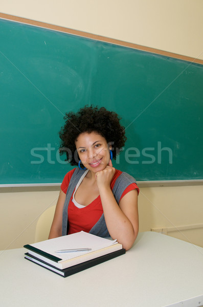 Smiling African American in classroom Stock photo © tangducminh