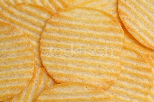 Batatas fritas textura comida dieta insalubre Foto stock © tangducminh