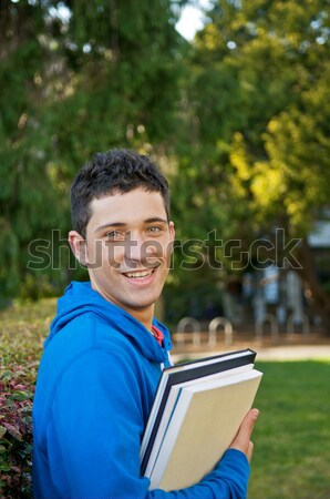 Student with Text book Stock photo © tangducminh