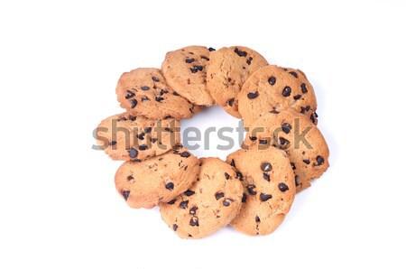 шоколадом чипов круга форма Cookie темный шоколад Сток-фото © tangducminh