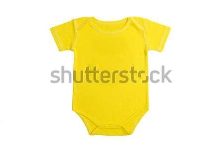 Baby ubrania Brazylia krótki rękaw żółty Zdjęcia stock © tangducminh
