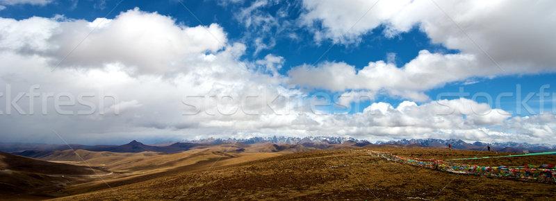 Tibetan Mountain Landscape Stock photo © tangducminh