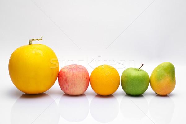Meyve renkli meyve beyaz elma tropikal Stok fotoğraf © tangducminh