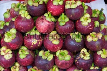 Мангостин Sweet тропические продовольствие зеленый продажи Сток-фото © tangducminh