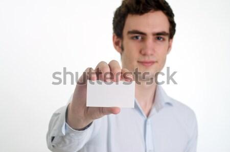 showing ID card Stock photo © tangducminh