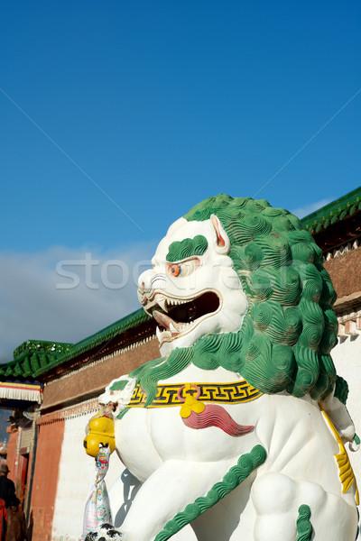 Tibetan Stone Lion Stock photo © tangducminh