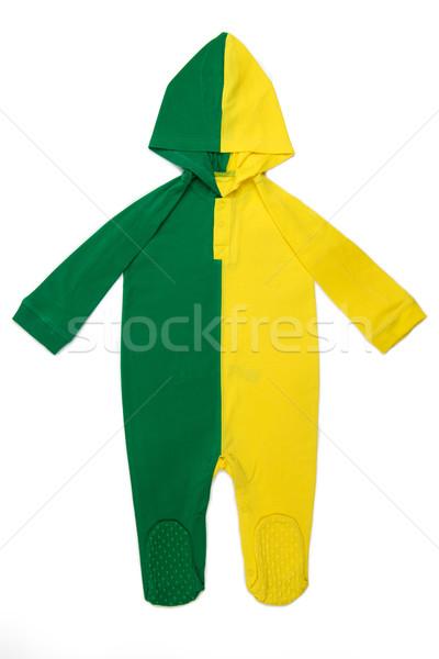 ребенка одежды Бразилия длинный рукав цветами белый Сток-фото © tangducminh