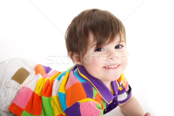 Sevimli bebek çocuk zemin oynama eğlence Stok fotoğraf © tangducminh