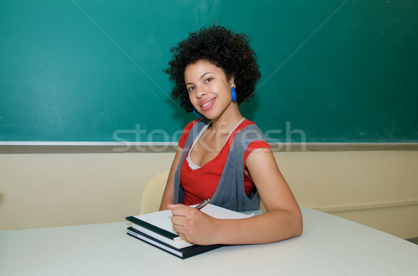 Student with Text book in class Stock photo © tangducminh