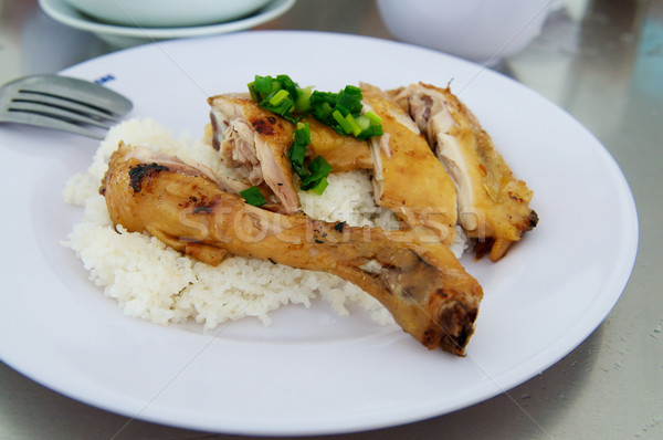 Vietnamese Grilled Chicken dish Stock photo © tangducminh