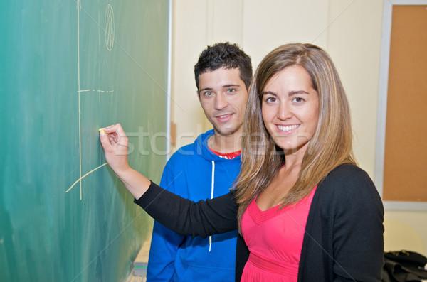 студентов Дать доске Hispanic колледжей улыбка Сток-фото © tangducminh