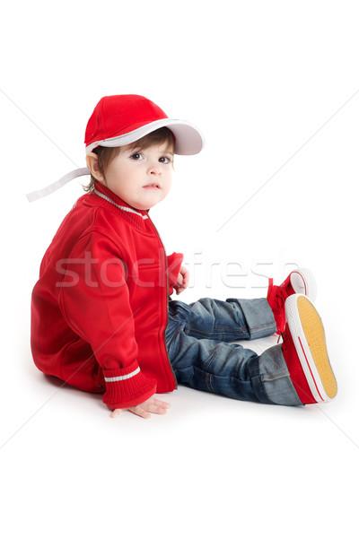 Criança bebê sessão carro corrida Foto stock © tangducminh