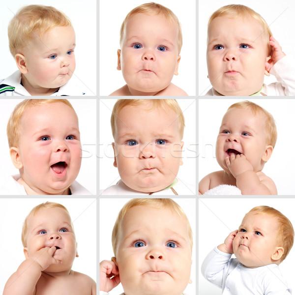 ребенка лице фото монтаж ребенка весело Сток-фото © tangducminh