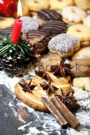 Christmas dekoracji słodycze słodkie domów Zdjęcia stock © tannjuska