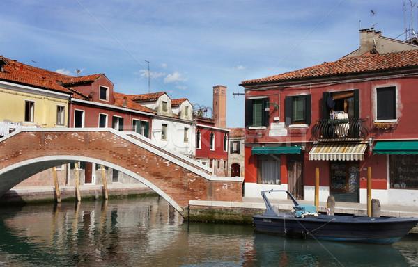 Venecia hermosa romántica calles casa mar Foto stock © tannjuska