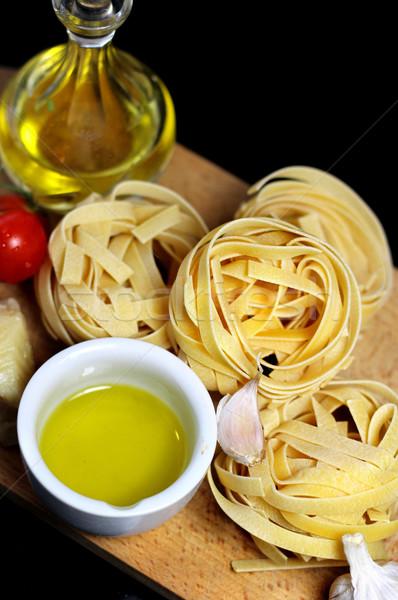 Traditionnel nourriture italienne ingrédients pâtes comme Photo stock © tannjuska