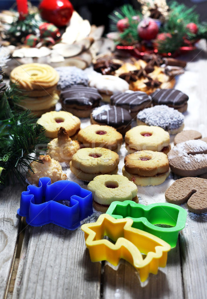 Christmas cookies wit vivid pastry forms Stock photo © tannjuska