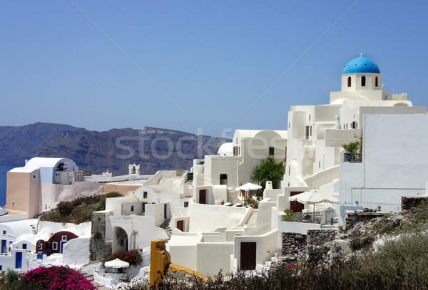 Santorini ilha pequeno branco casas ruas Foto stock © tannjuska