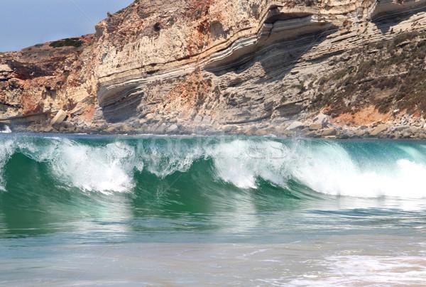 Photo stock: Vagues · de · l'océan · océan · grand · vagues · Rock · plage
