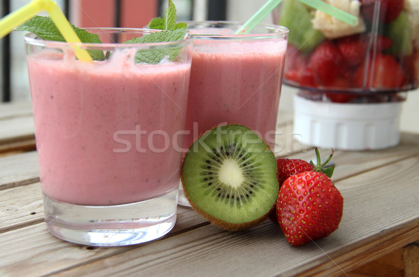 新鮮な スムージー 果物 表 食品 ストックフォト © tannjuska