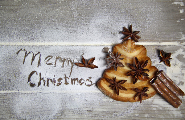 Merry Christmas and cookie fir-tree  Stock photo © tannjuska