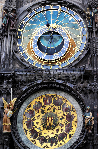Astronomical clock in Prague, Czech republic Stock photo © tannjuska
