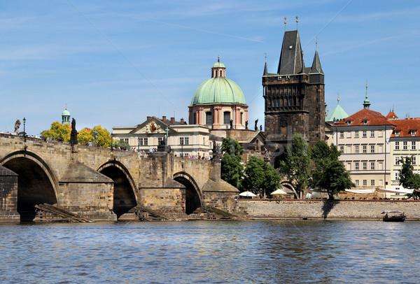 Charles bridge, Prague, Czech Republic Stock photo © tannjuska