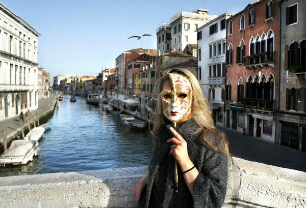 Mulher belo Veneza veneziano carnaval Foto stock © tannjuska