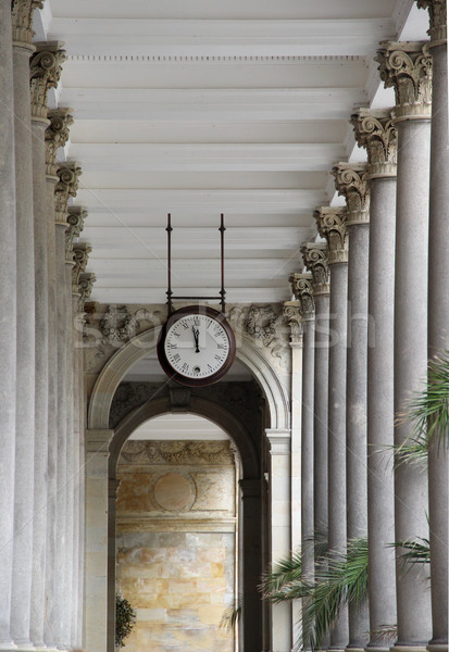 Typical colonnade in Karlovy Vary Stock photo © tannjuska