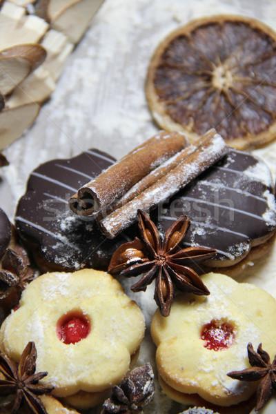 クリスマス クッキー シナモン 表 チョコレート ストックフォト © tannjuska