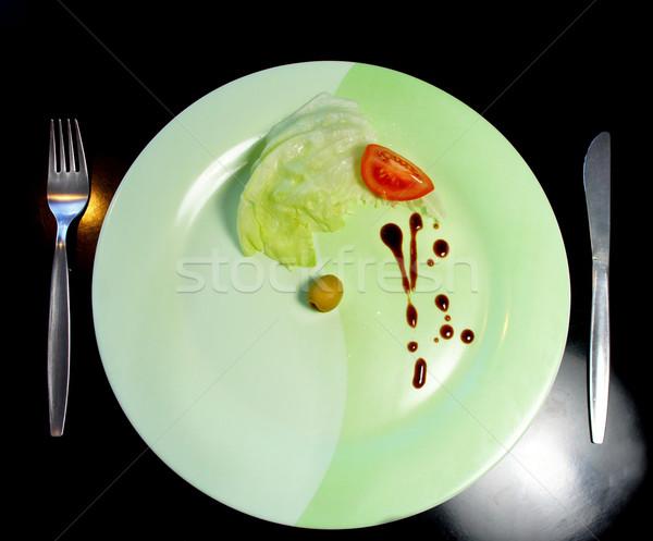 Grande piatto piccolo pezzo alimentare pezzi Foto d'archivio © tannjuska