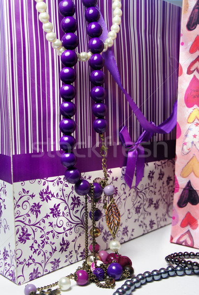 Stock photo: Beautiful shop bags and accessorizes