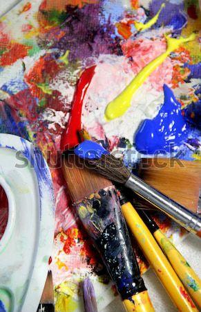 ストックフォト: 芸術 · パレット · テクスチャ · 作業 · 抽象的な