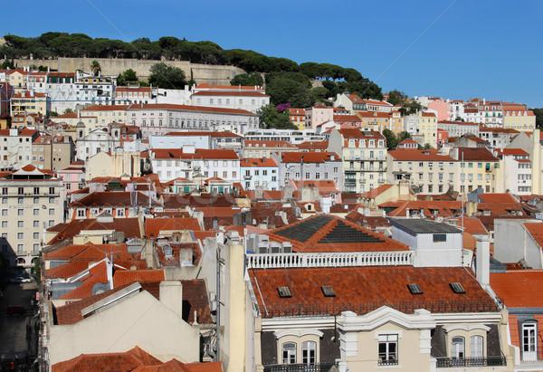 Lisbon roofs Stock photo © tannjuska
