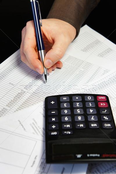 Photo stock: Bureau · table · simulateur · stylo · comptables · document