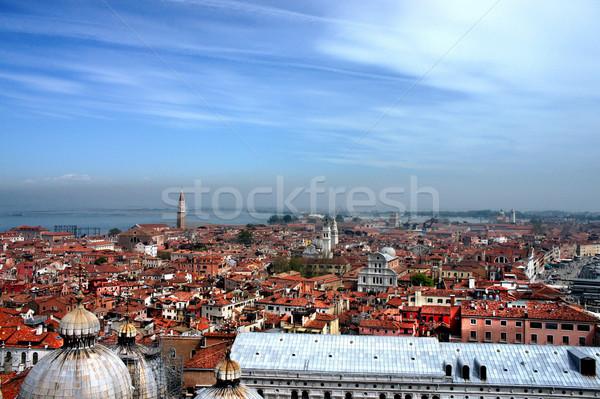 Velence tetők romantikus Olaszország égbolt víz Stock fotó © tannjuska