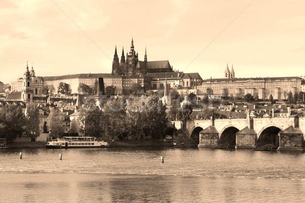 Prag kale köprü Çek Cumhuriyeti güzel panorama Stok fotoğraf © tannjuska