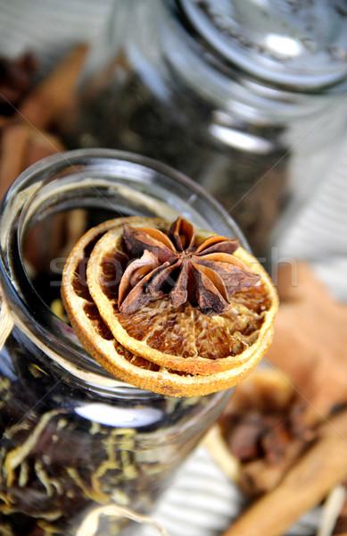 Noël épices thé cannelle sécher Photo stock © tannjuska