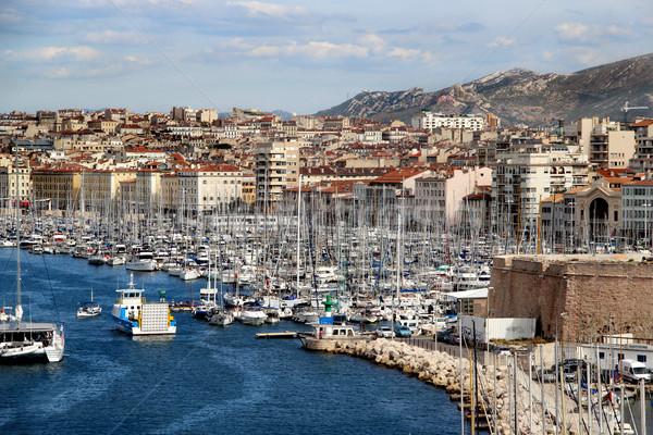 Marseille Franciaország gyönyörű kilátás víz ház Stock fotó © tannjuska