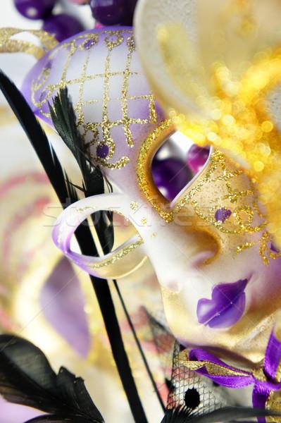 Veneziano carnaval máscaras Veneza Itália belo Foto stock © tannjuska