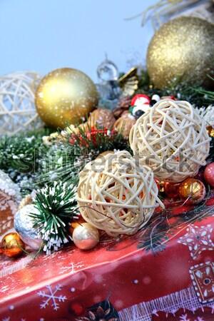 Noël décorations grand lumière maison Photo stock © tannjuska